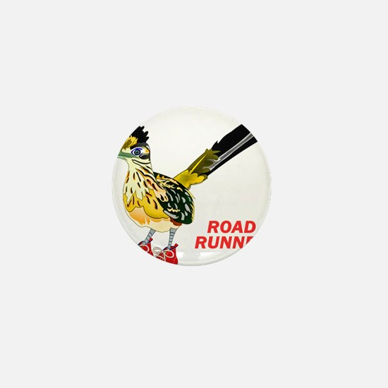 Road Runner in Sneakers Mini Button