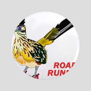 Road Runner in Sneakers Button