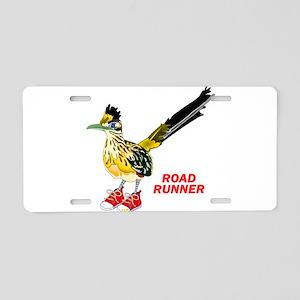 Road Runner in Sneakers Aluminum License Plate