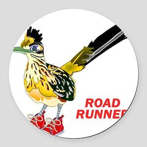 Road Runner in Sneakers Round Car Magnet
