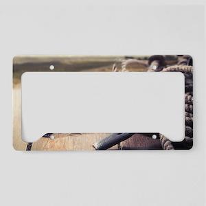 Western Horseshoe License Plate Holder