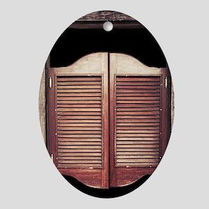 Saloon Doors Oval Ornament