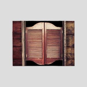 Saloon Doors 5'x7'Area Rug
