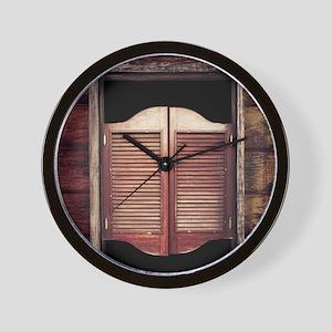 Saloon Doors Wall Clock