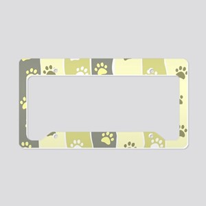 Cute Paw Prints License Plate Holder