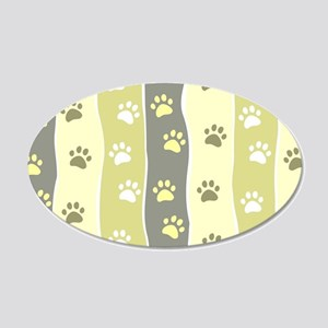 Cute Paw Prints Wall Decal