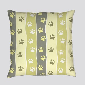 Cute Paw Prints Everyday Pillow