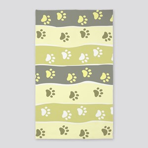 Cute Paw Prints Area Rug