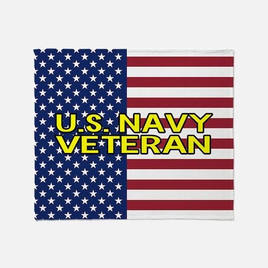 U.S. Navy: Veteran (American Flag) Throw Blanket
