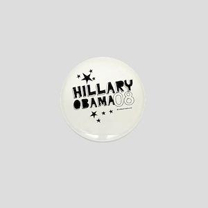Clinton / Obama 2008 Mini Button