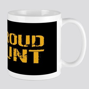 U.S. Navy: Proud Aunt (Black) Mug