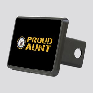 U.S. Navy: Proud Aunt (Bla Rectangular Hitch Cover