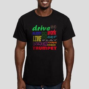 Trumpet Men's Fitted T-Shirt (dark)