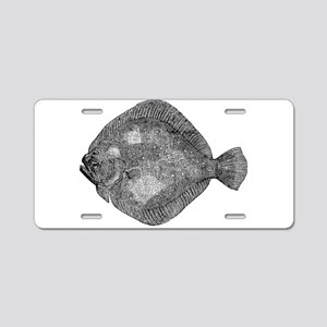 Vintage Flounder Fish Fishe Aluminum License Plate