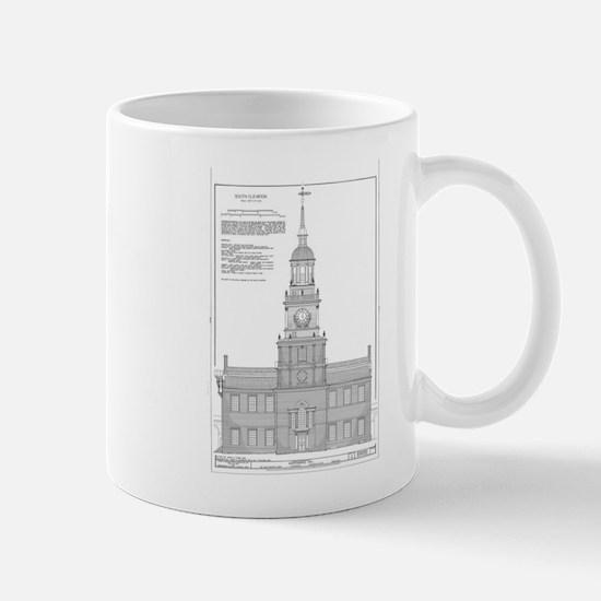 Independence Hall Blueprint Schematics Mugs