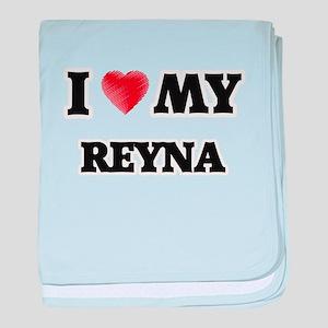 I love my Reyna baby blanket