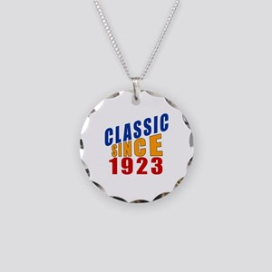 Classic Since 1923 Necklace Circle Charm