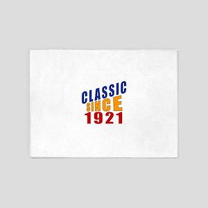 Classic Since 1921 5'x7'Area Rug