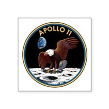 Apollo 11 Insignia Square Sticker 3