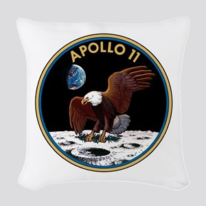 Apollo 11 Insignia Woven Throw Pillow