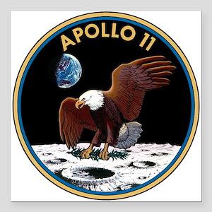 """Apollo 11 Insignia Square Car Magnet 3"""" x 3"""""""