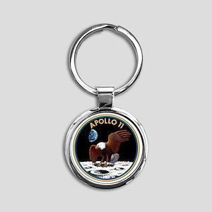 Apollo 11 Insignia Round Keychain