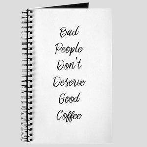 Bad People/Good Coffee Journal