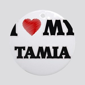 I love my Tamia Round Ornament