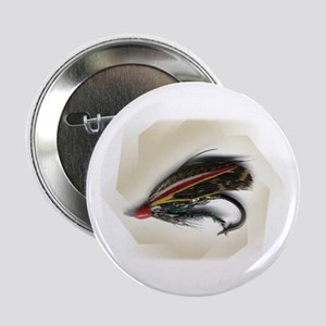 """'Antique Salmon Fly' 2.25"""" Button (10 pack)"""
