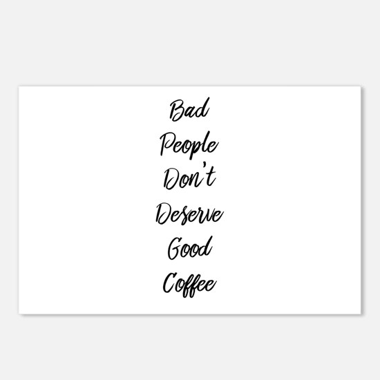 Bad People/Good Coffee Postcards (Package of 8)