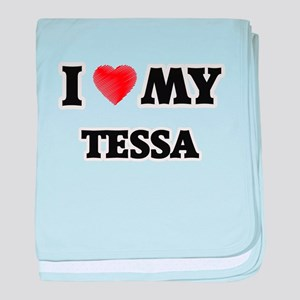 I love my Tessa baby blanket
