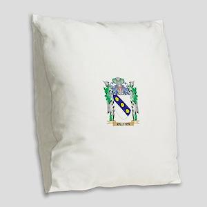 Ralston Coat of Arms - Family Burlap Throw Pillow