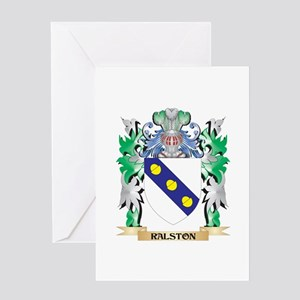 Ralston Coat of Arms - Family Crest Greeting Cards