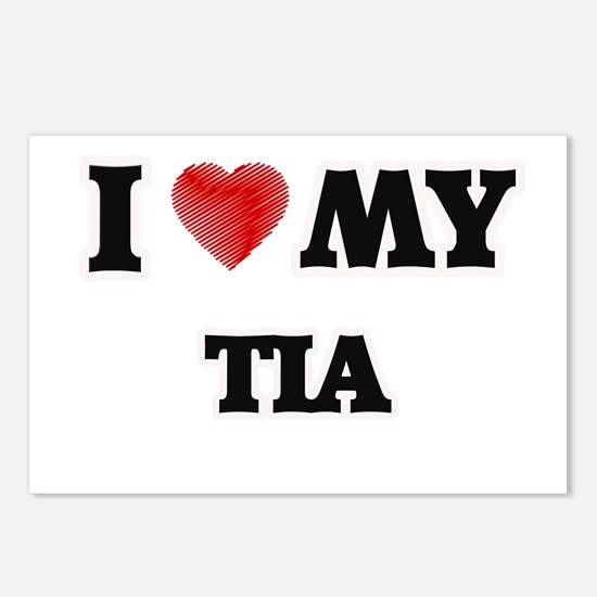 I love my Tia Postcards (Package of 8)