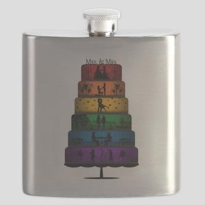 Lesbian Pride Wedding Cake Flask