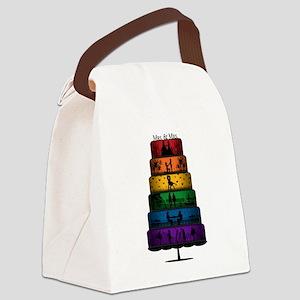Lesbian Pride Wedding Cake Canvas Lunch Bag