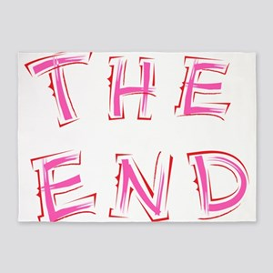 The End Pink 5'x7'Area Rug