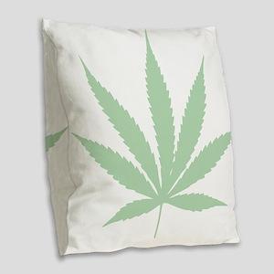 Weed Burlap Throw Pillow