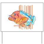 Cartoon Fish Grouper Yard Sign