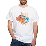 Cartoon Fish Grouper White T-Shirt