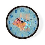 Cartoon Fish Grouper Wall Clock