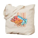 Cartoon Fish Grouper Tote Bag
