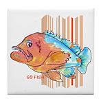 Cartoon Fish Grouper Tile Coaster