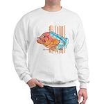 Cartoon Fish Grouper Sweatshirt