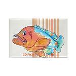 Cartoon Fish Grouper Rectangle Magnet (100 pack)
