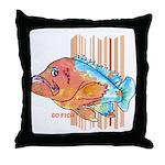 Cartoon Fish Grouper Throw Pillow