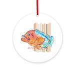 Cartoon Fish Grouper Ornament (Round)