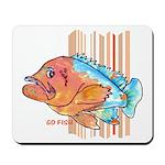 Cartoon Fish Grouper Mousepad