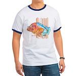 Cartoon Fish Grouper Ringer T
