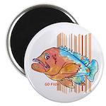 "Cartoon Fish Grouper 2.25"" Magnet (10 pack)"